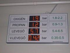 PannonSign industrial display, with 110mm character height and RS485 input