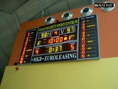 MS160-Extended multisport LED scoreboard system with shotclock, fault and player number display